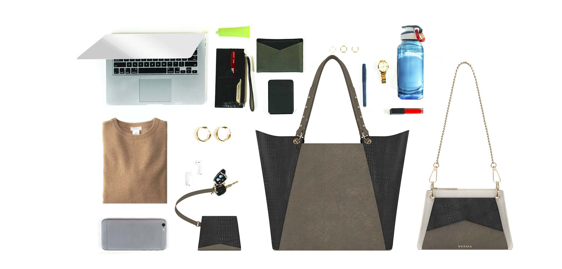 Verve Convertible Leather Backpack, Tote & Purse fits in Volt laptop sleeve, omni wallet & passport case